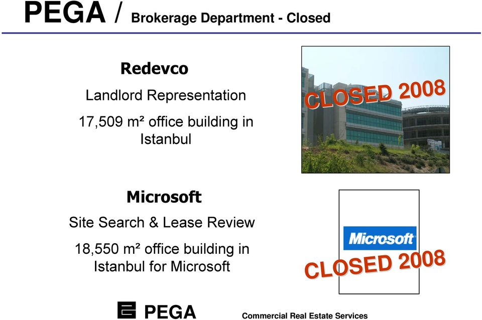 CLOSED 2008 Microsoft Site Search & Lease Review