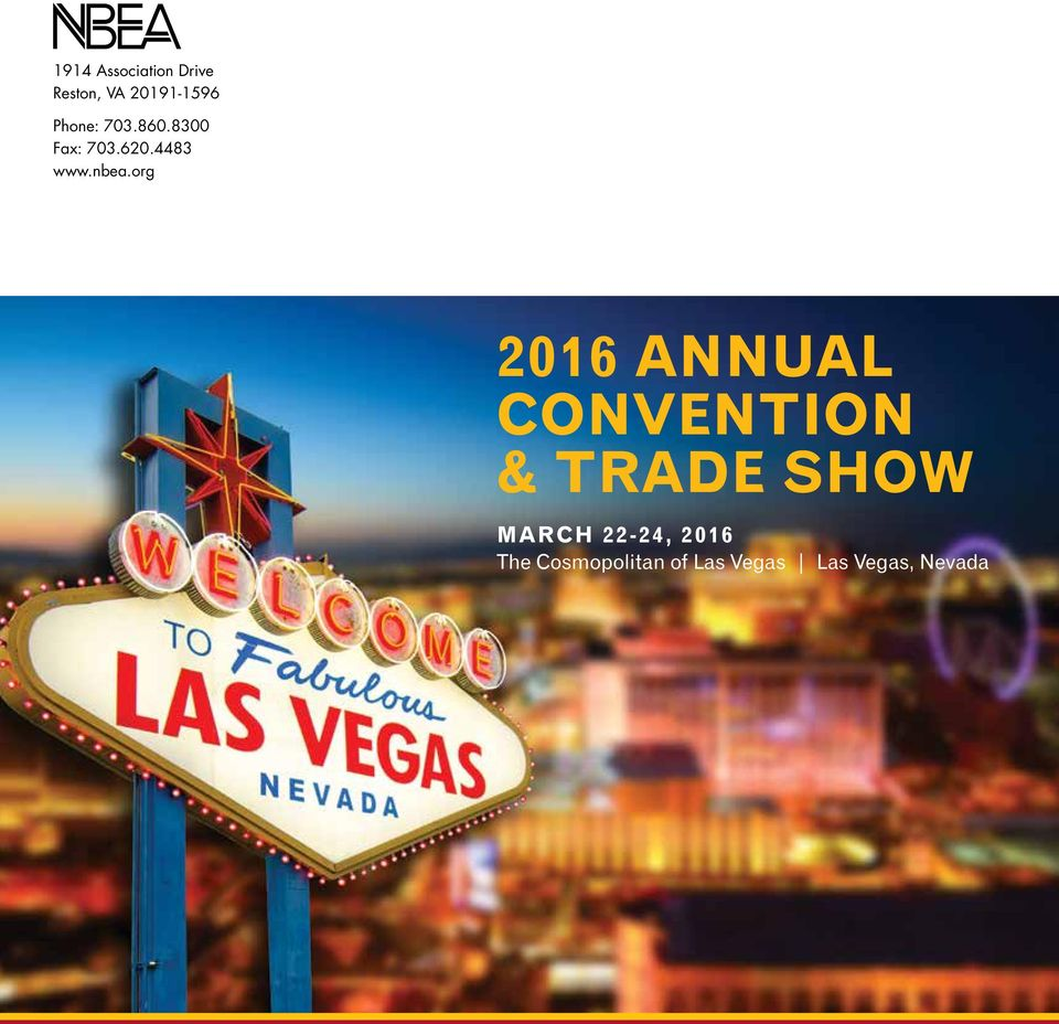 org 2016 ANNUAL CONVENTION & TRADE SHOW MARCH