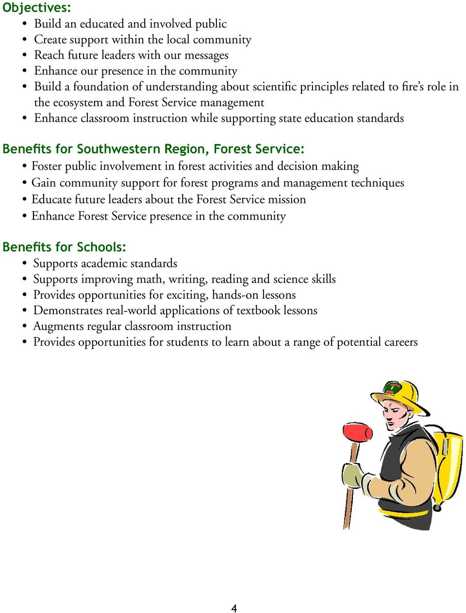 FIRE ECOLOGY CURRICULUM  USDA Forest Service Southwestern
