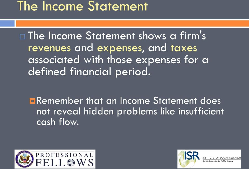 expenses for a defined financial period.