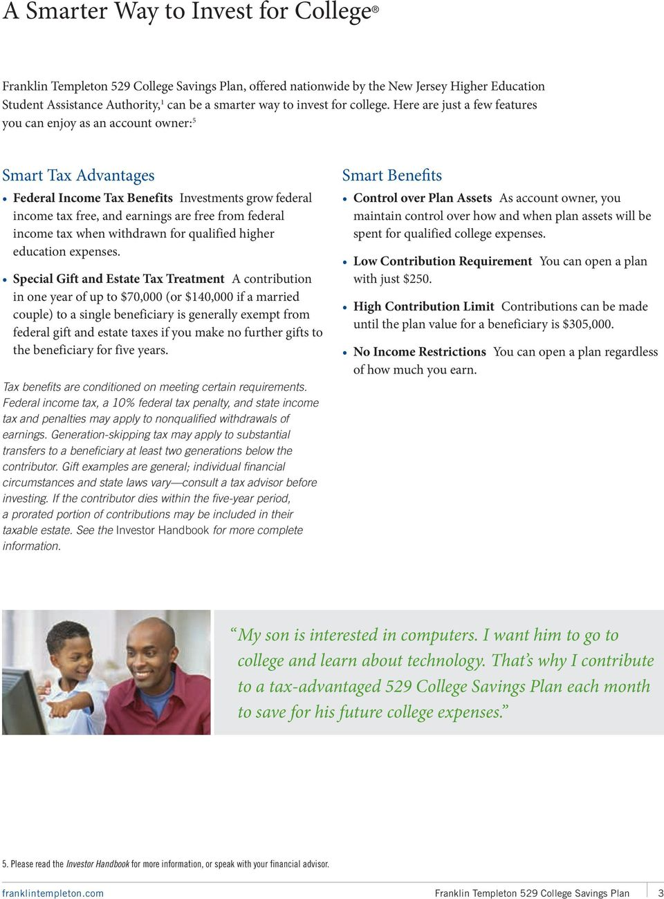 Franklin Templeton 529 College Savings Plan OFFERED NATIONWIDE BY