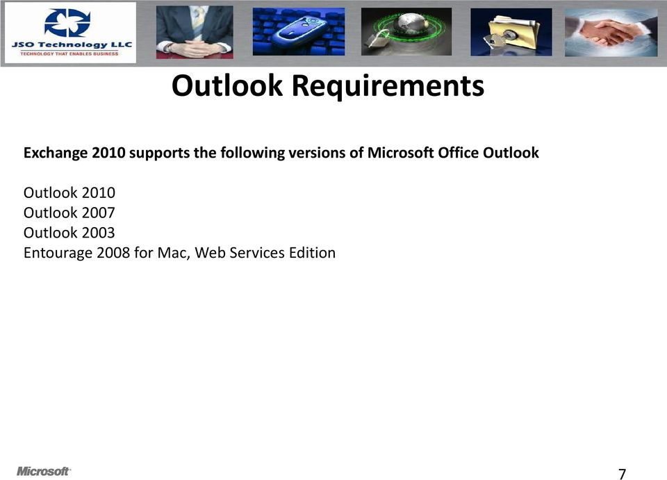 Outlook Outlook 2010 Outlook 2007 Outlook