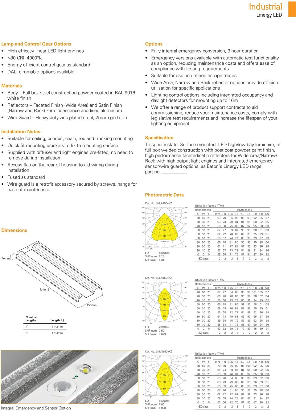 steel, 25mm grid size Installation Notes Suitable for ceiling, conduit, chain, rod and trunking mounting Quick fit mounting brackets to fix to mounting surface Supplied with diffuser and light