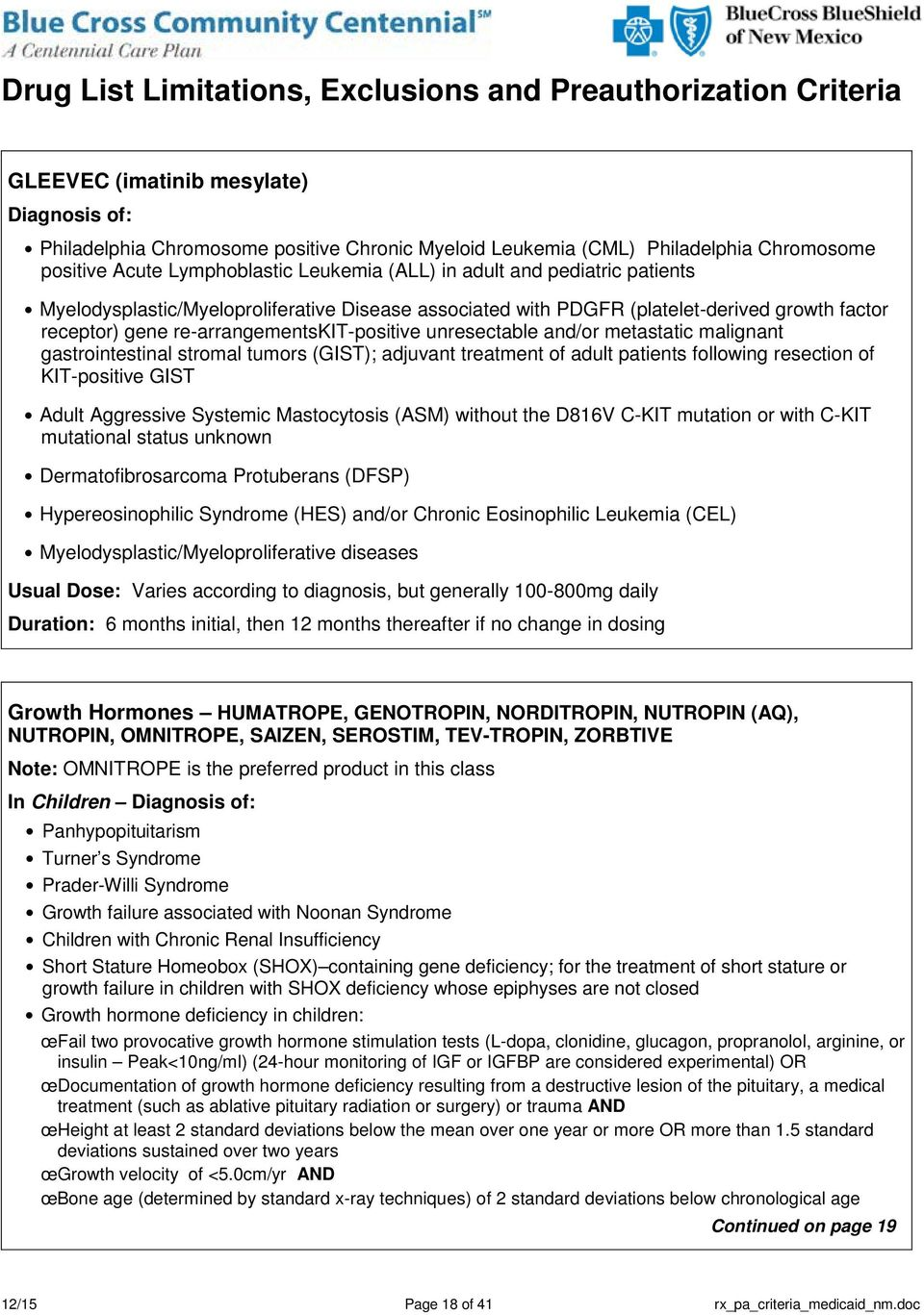 stromal tumors (GIST); adjuvant treatment of adult patients following resection of KIT-positive GIST Adult Aggressive Systemic Mastocytosis (ASM) without the D816V C-KIT mutation or with C-KIT