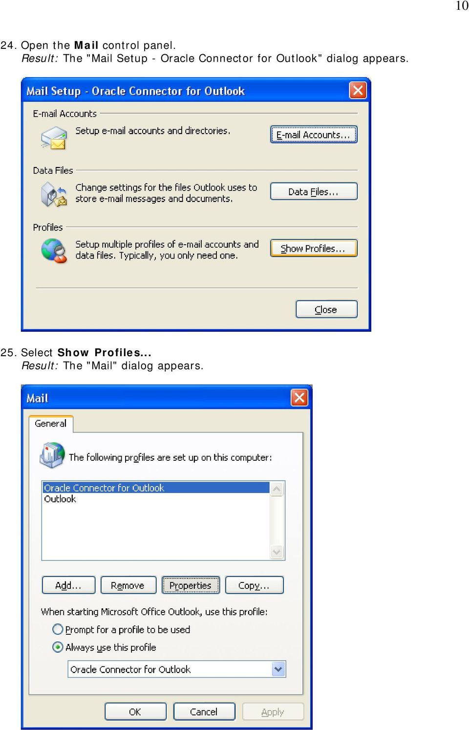 "for Outlook"" dialog appears. 25."