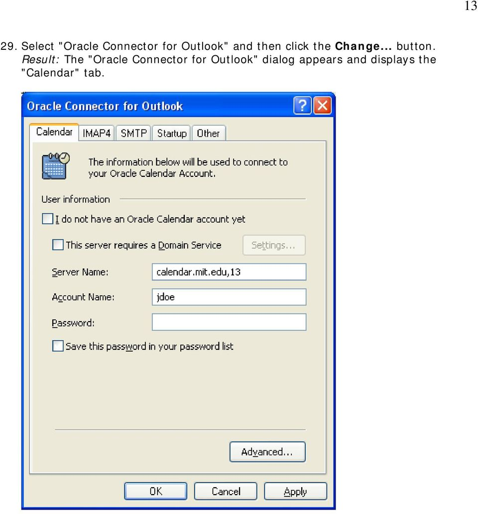 "Result: The ""Oracle Connector for Outlook"""