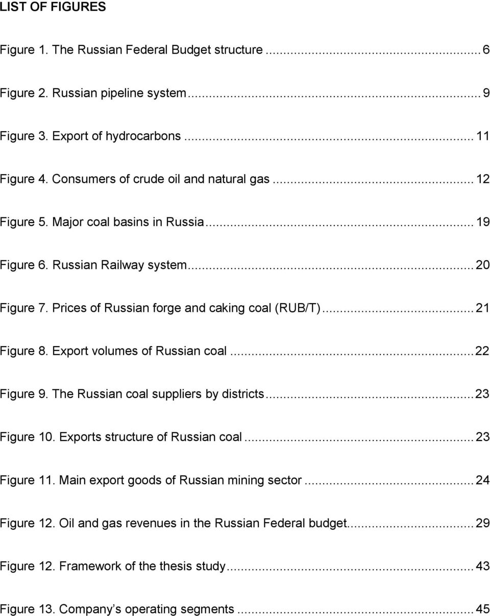 Prices of Russian forge and caking coal (RUB/T)... 21 Figure 8. Export volumes of Russian coal... 22 Figure 9. The Russian coal suppliers by districts... 23 Figure 10.