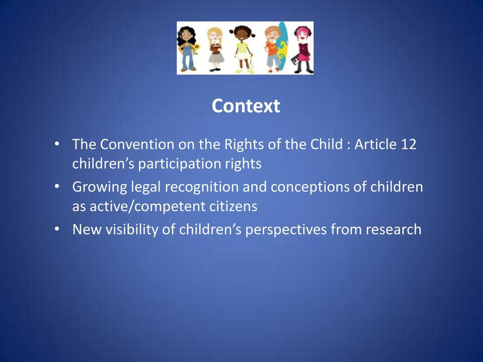 recognition and conceptions of children as