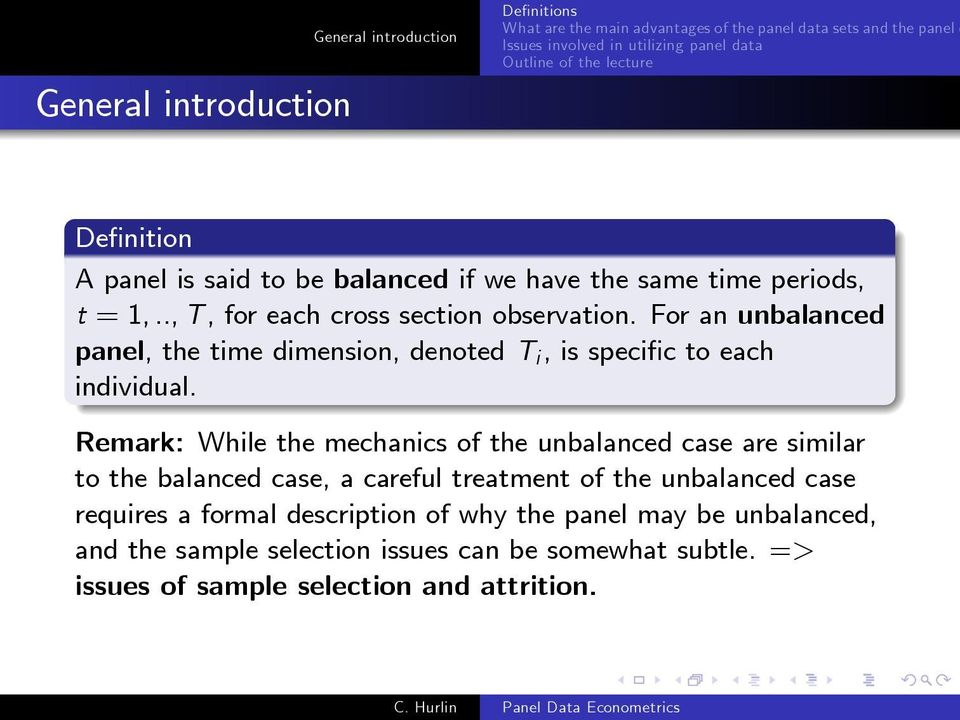 Remark: While the mechanics of the unbalanced case are similar to the balanced case, a careful treatment of the unbalanced