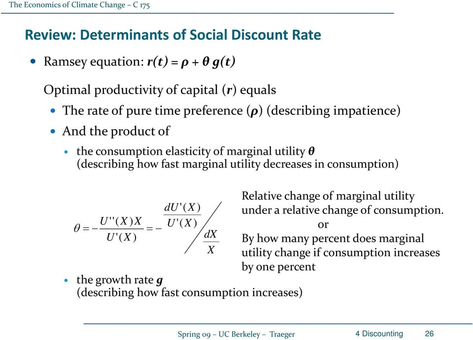 Relative change of marginal utility du '( X ) under a relative change of consumption.