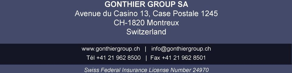 ch info@gonthiergroup.