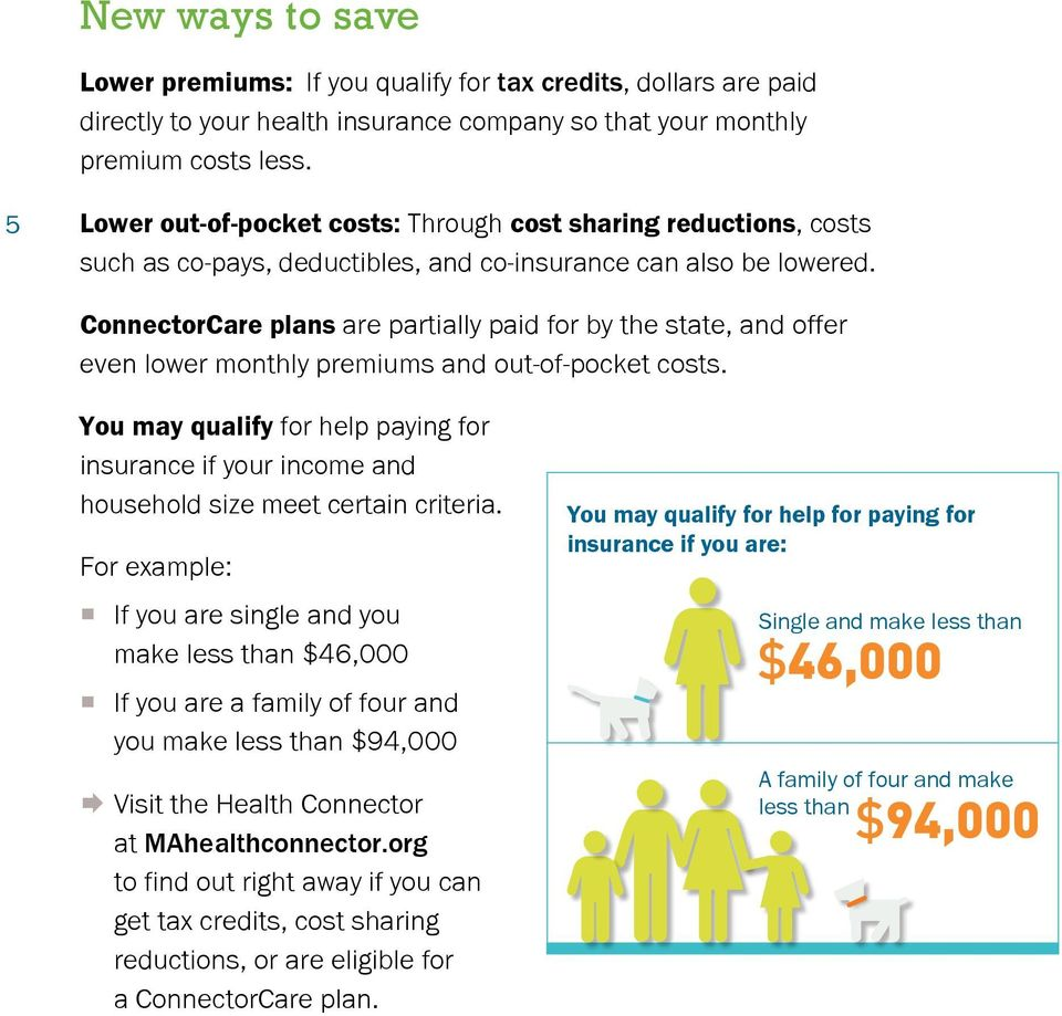 ConnectorCare plans are partially paid for by the state, and offer even lower monthly premiums and out-of-pocket costs.