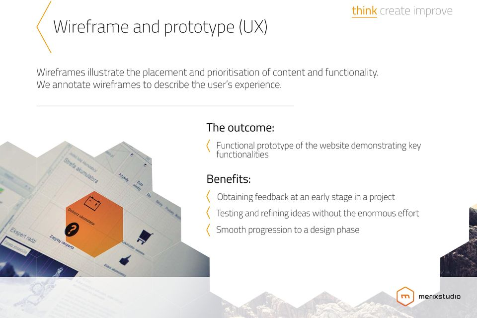 The outcome: Functional prototype of the website demonstrating key functionalities Obtaining