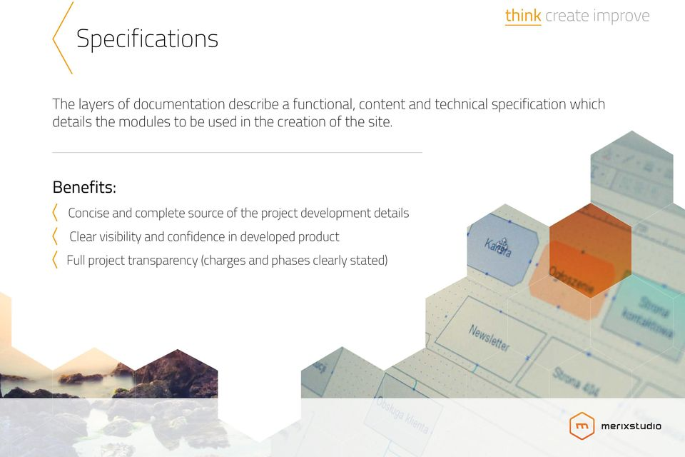 site. Concise and complete source of the project development details Clear visibility
