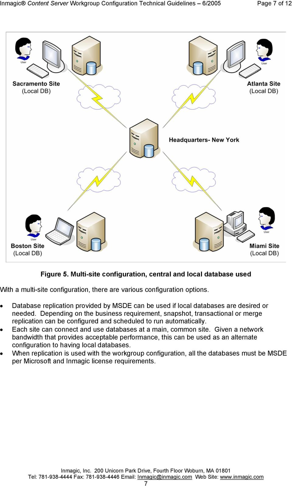Database replication provided by MSDE can be used if local databases are desired or needed.