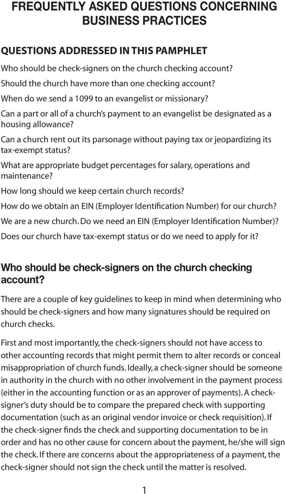 Can a part or all of a church s payment to an evangelist be designated as a housing allowance? Can a church rent out its parsonage without paying tax or jeopardizing its tax-exempt status?