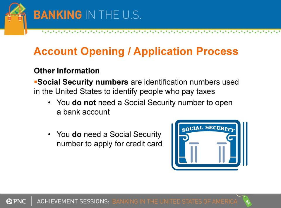 people who pay taxes You do not need a Social Security number to open a