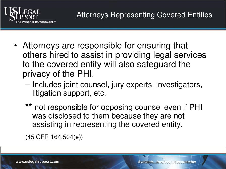 Includes joint counsel, jury experts, investigators, litigation support, etc.