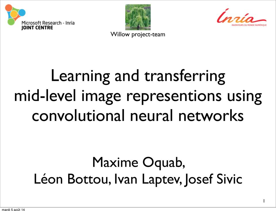 representions using convolutional neural