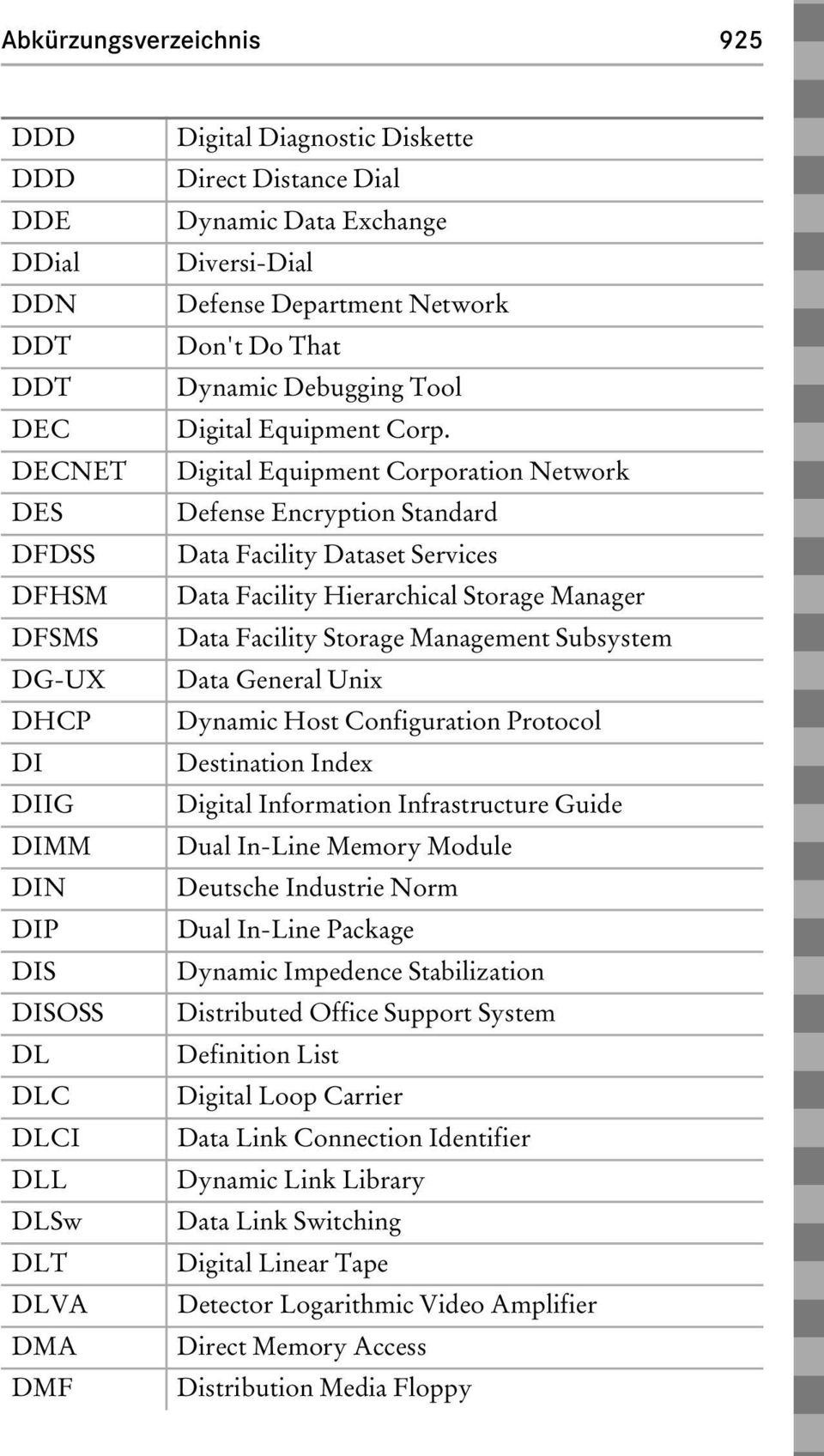 Digital Equipment Corporation Network Defense Encryption Standard Data Facility Dataset Services Data Facility Hierarchical Storage Manager Data Facility Storage Management Subsystem Data General