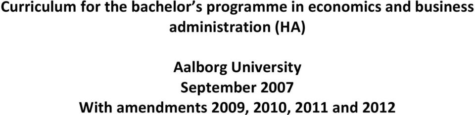 (HA) Aalborg University September 2007