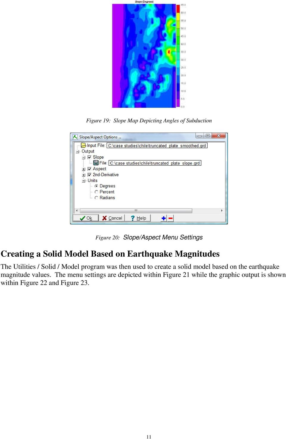 was then used to create a solid model based on the earthquake magnitude values.