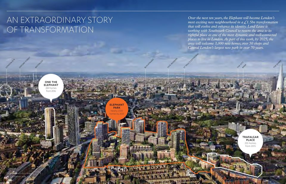Lend Lease is working with Southwark Council to restore the area to its rightful place as one of the most dynamic and well-connected places to live in London.