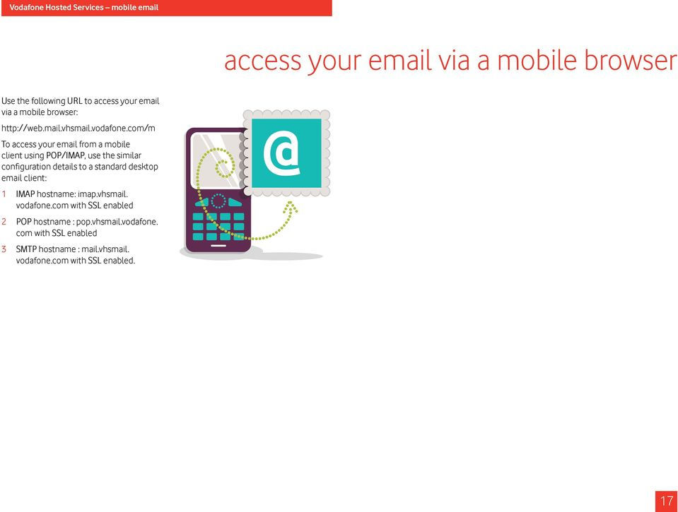 com/m To access your email from a mobile client using POP/IMAP, use the similar configuration details to a standard desktop