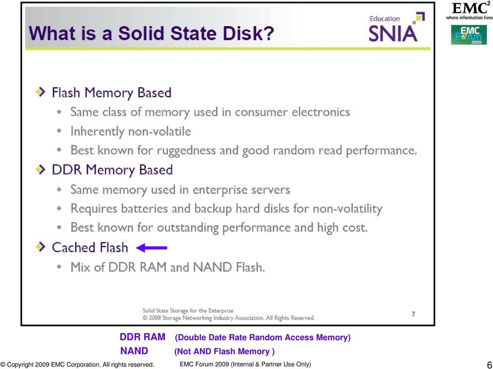 (Not AND Flash Memory ) EMC