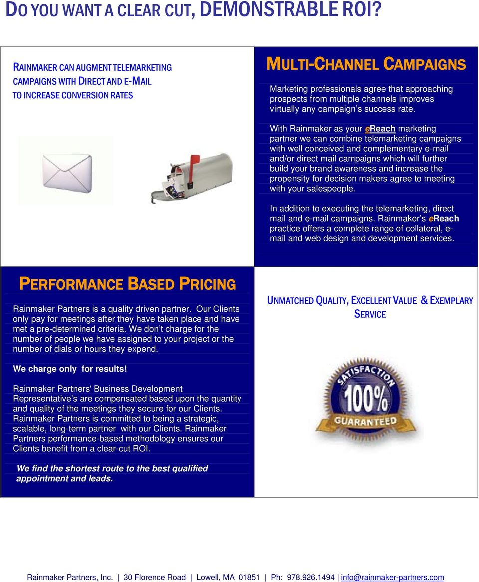 channels improves virtually any campaign s success rate.