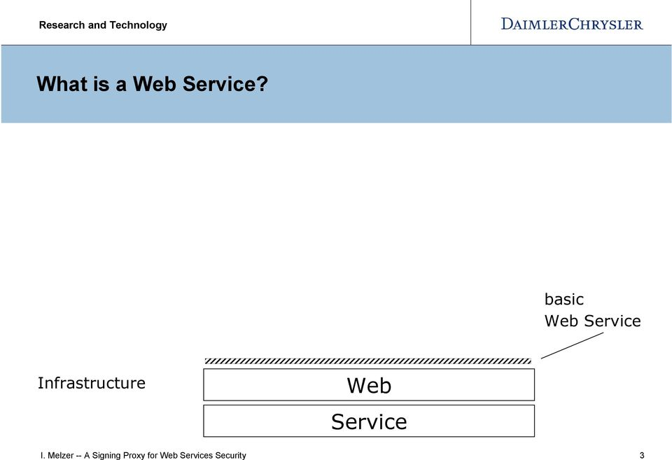 Infrastructure Web Service I.
