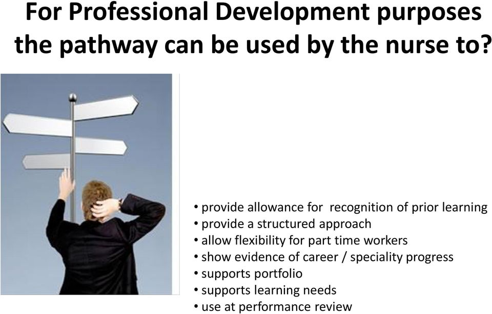 approach allow flexibility for part time workers show evidence of career /