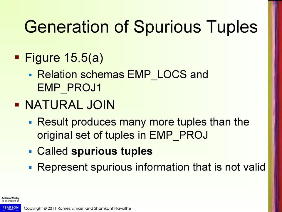 Result produces many more tuples than the original set of