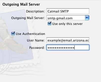 5. Under Incoming Mail Security check Use Secure Sockets Layer (SSL). 6. At the Authentication: location select Password. 7. Press Continue. 8.