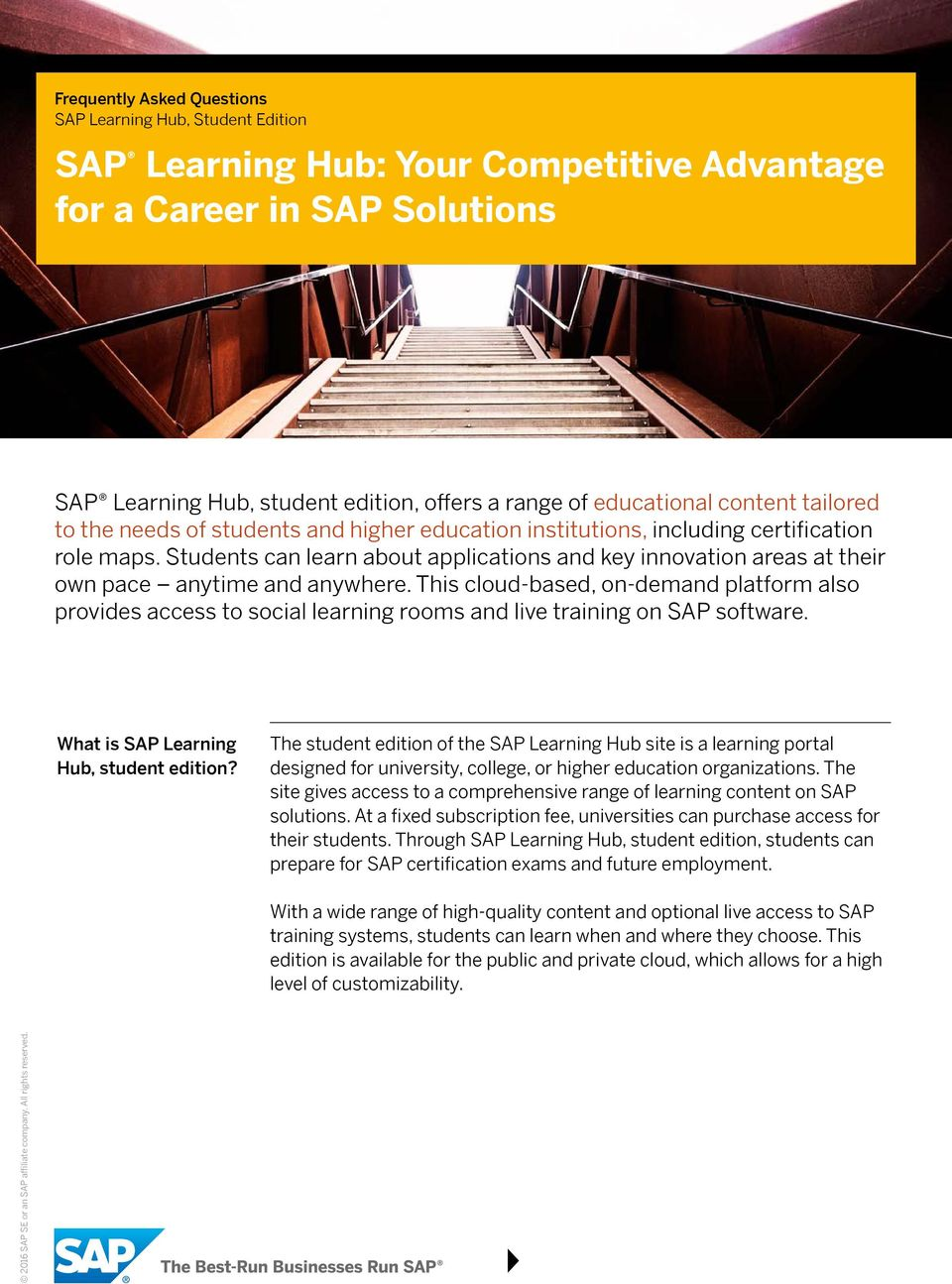 This cloud-based, on-demand platform also provides access to social learning rooms and live training on SAP software.