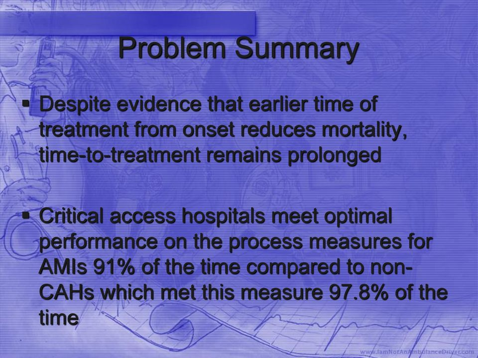 access hospitals meet optimal performance on the process measures for