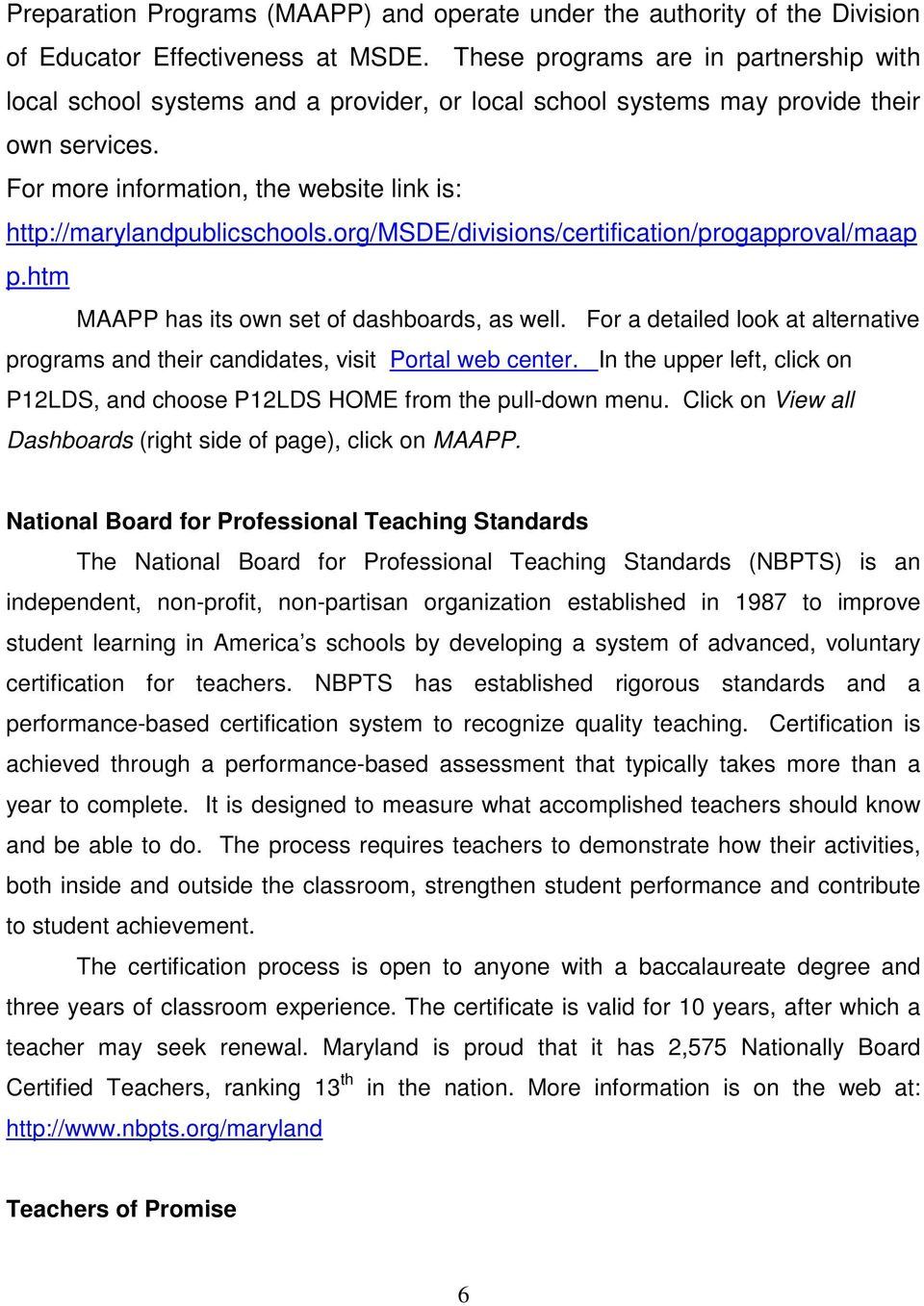 Teacher Staffing Report Maryland State Department Of Education 200