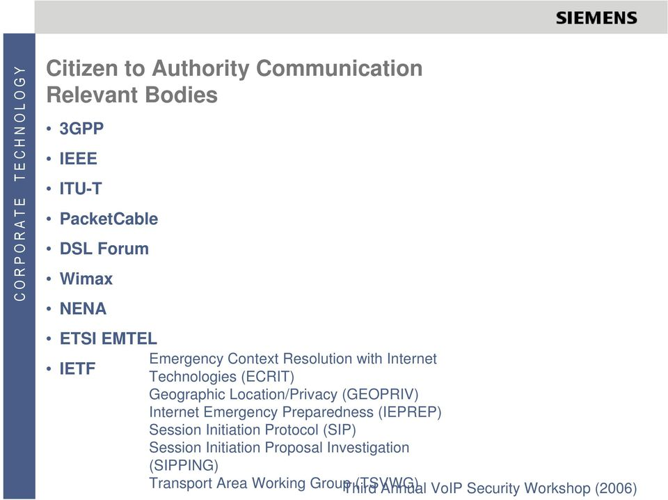 (GEOPRIV) Internet Emergency Preparedness (IEPREP) Session Initiation Protocol (SIP) Session Initiation
