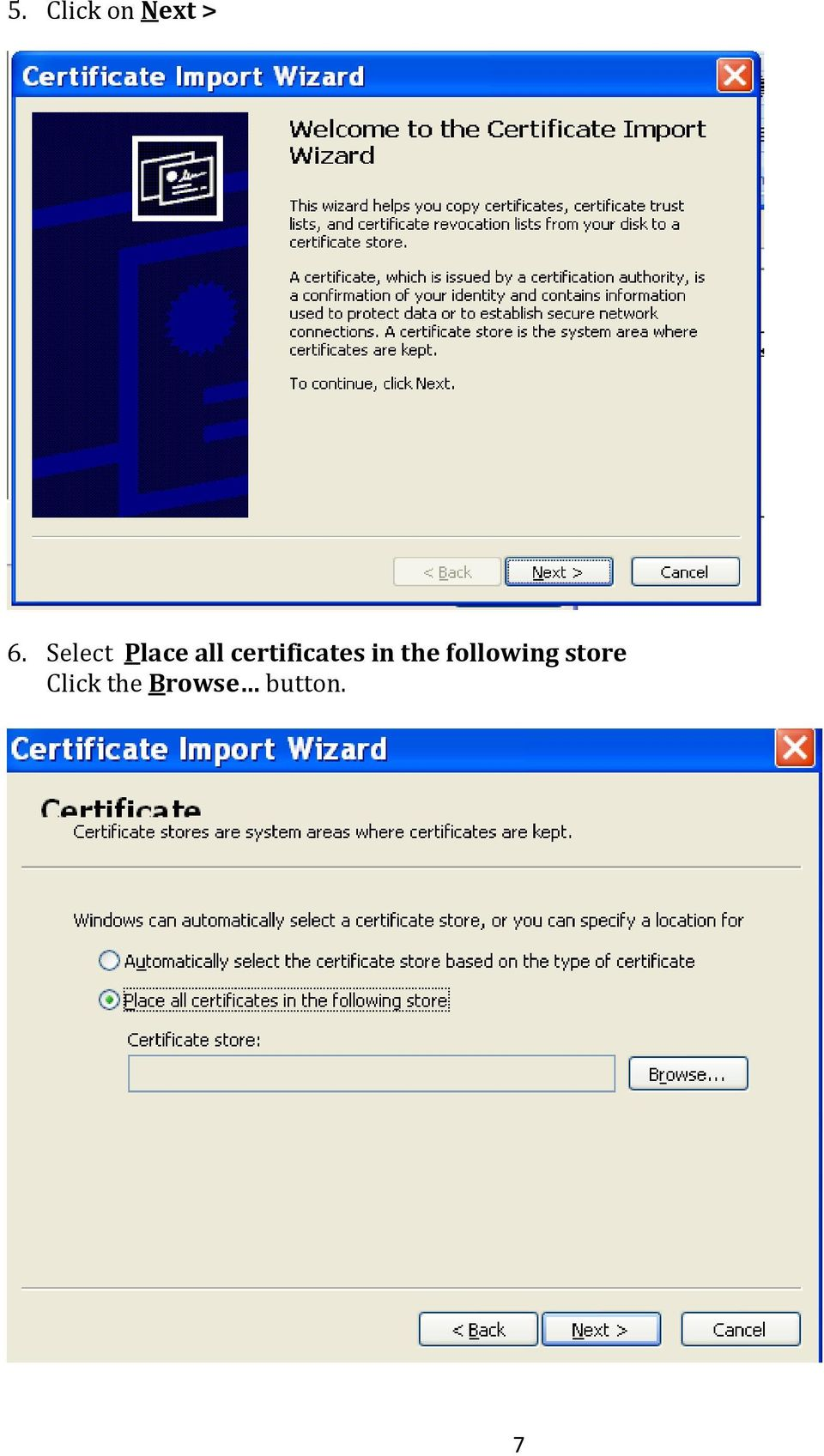 certificates in the