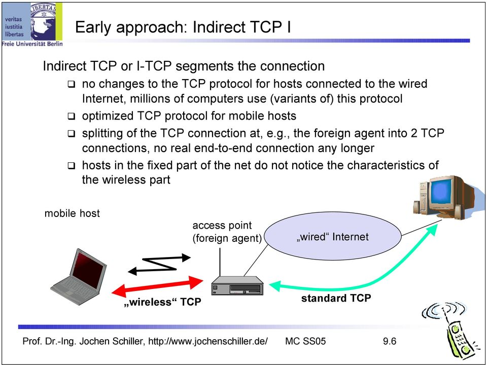 of the TCP connection at, e.g.