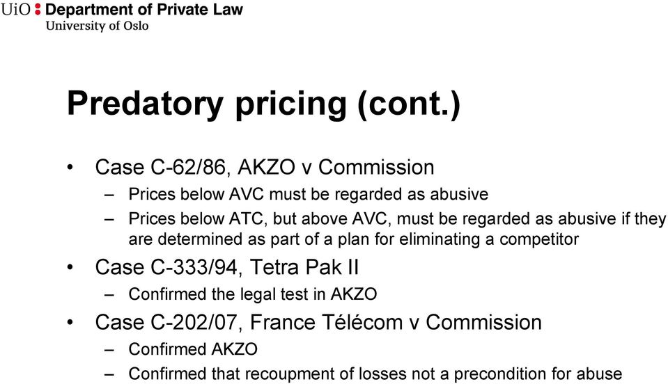 above AVC, must be regarded as abusive if they are determined as part of a plan for eliminating a