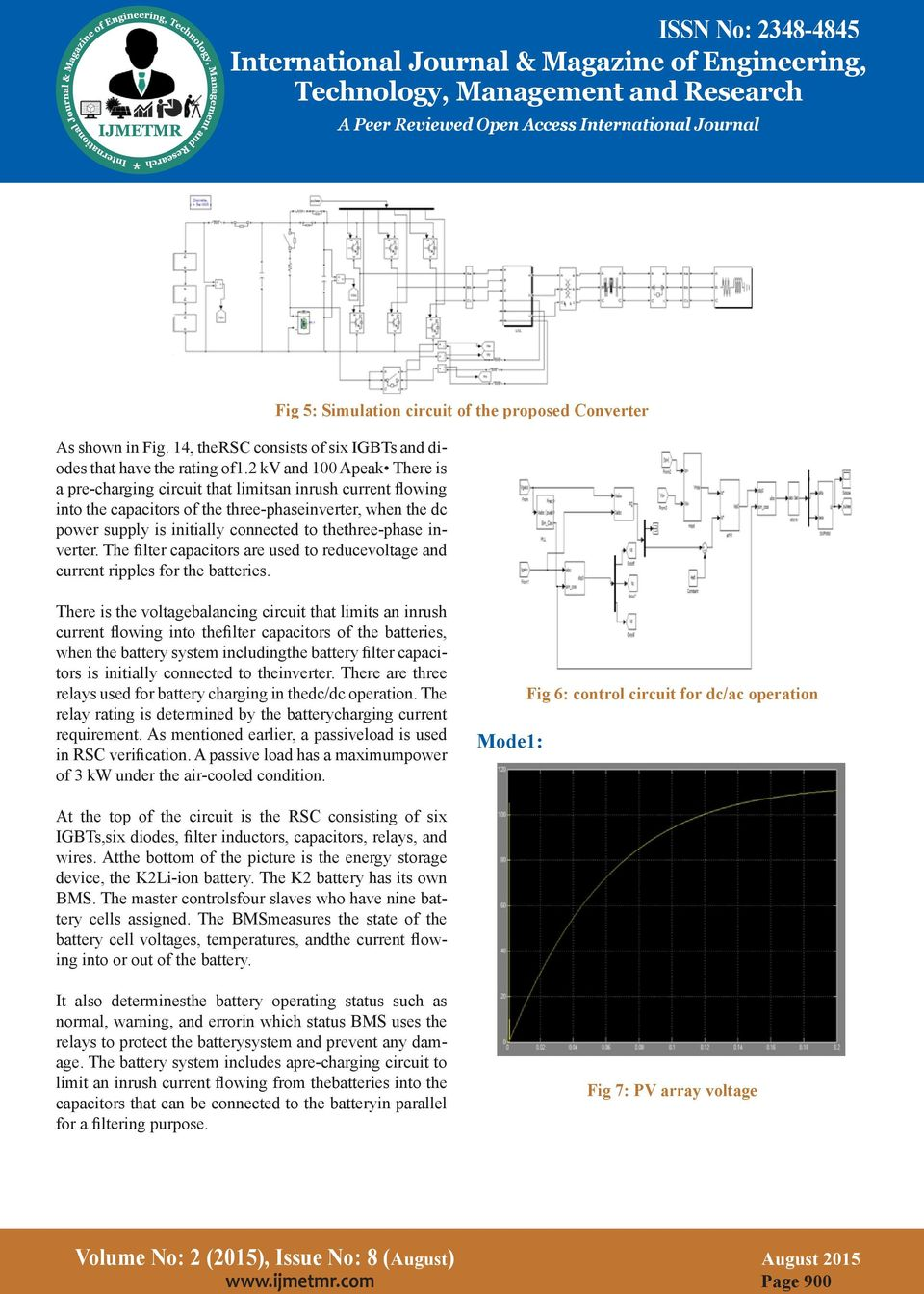 A Novel Converter Topology For Hybrid Renewable Energy System Cell Voltage Circuit Thethree Phase Inverter The Filter Capacitors Are Used To Reducevoltage And Current Ripples