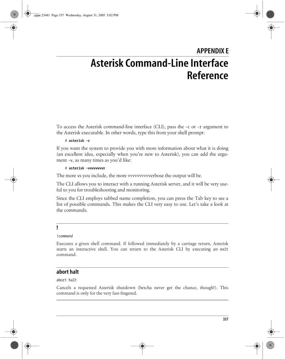 Asterisk Command-Line Interface Reference - PDF