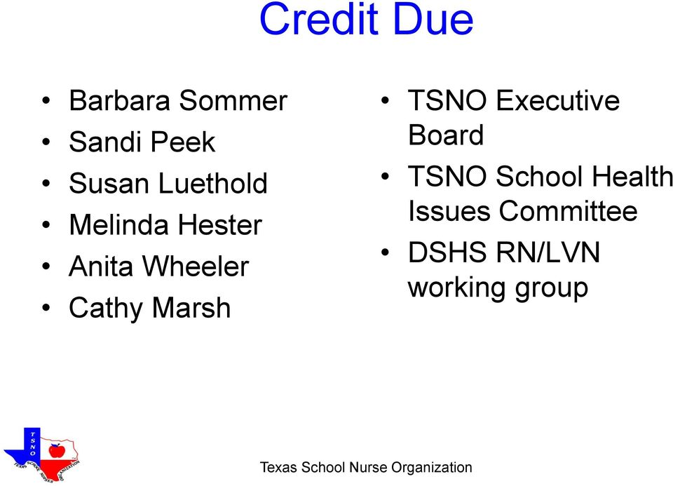 Marsh TSNO Executive Board TSNO School