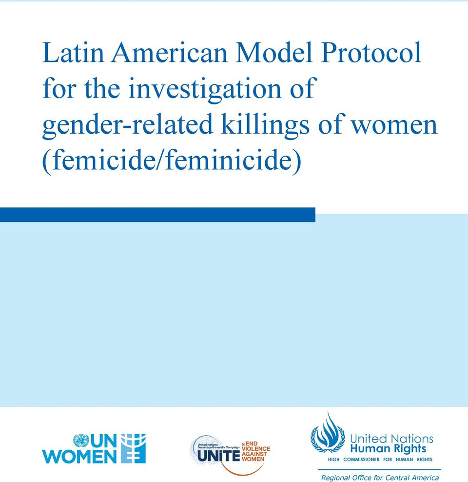 Latin american model protocol for the investigation of - Office for the high commissioner for human rights ...