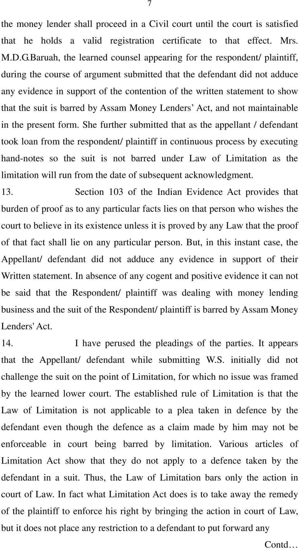 statement to show that the suit is barred by Assam Money Lenders Act, and not maintainable in the present form.