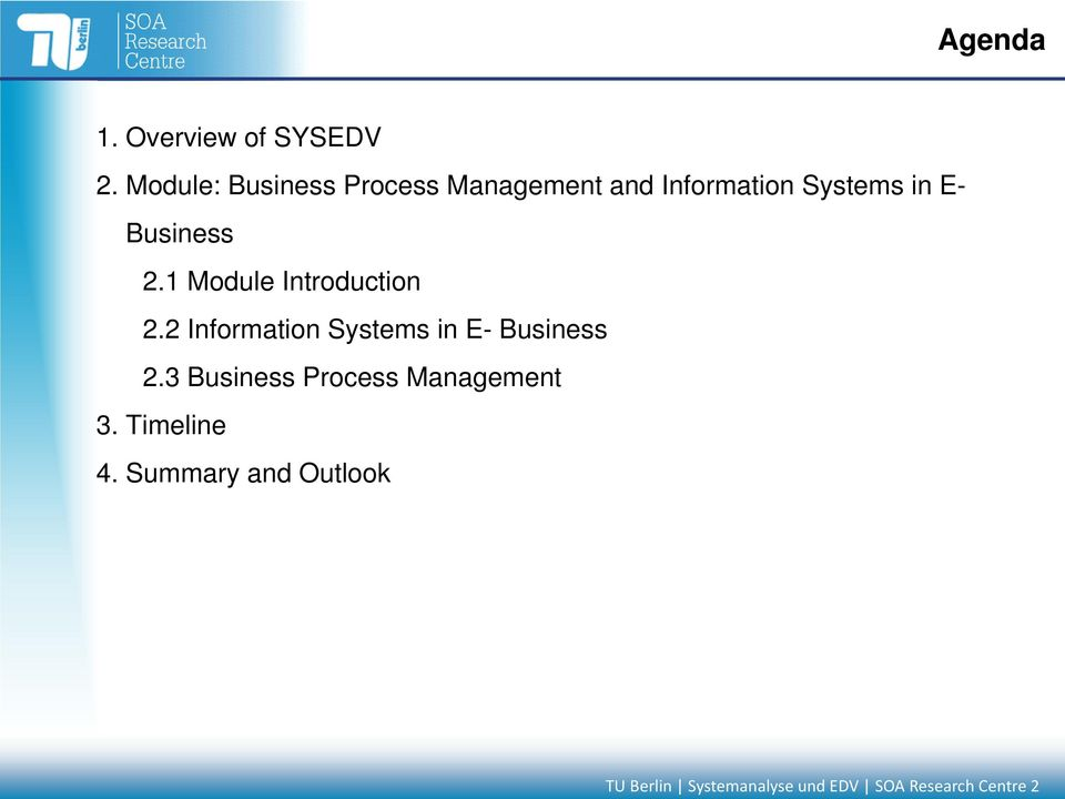 Business 2.1 Module Introduction 2.