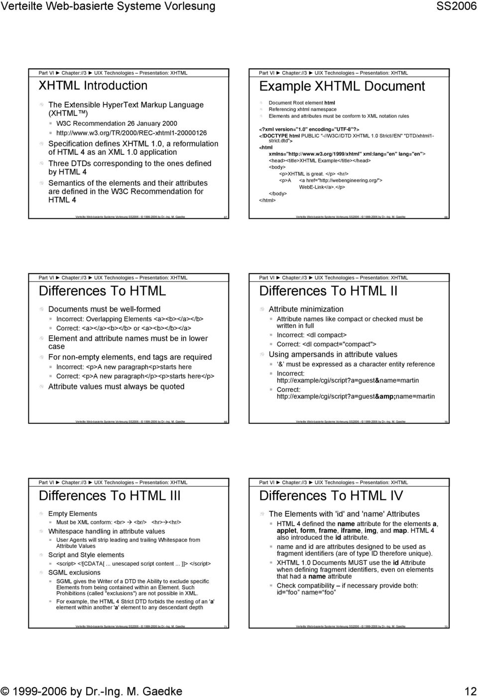 0 application Three DTDs corresponding to the ones defined by HTML 4 Semantics of the elements and their attributes are defined in the W3C Recommendation for HTML 4 Part VI Chapter://3 UIX