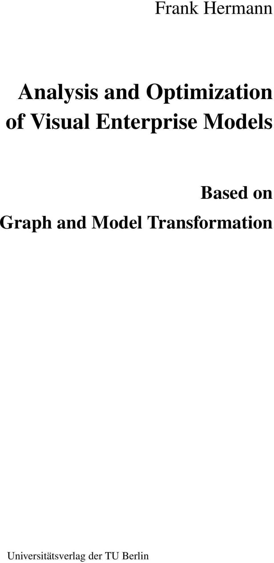 Models Based on Graph and Model