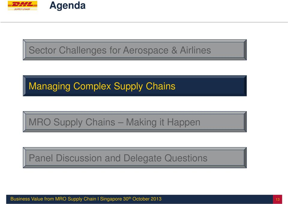 Chains MRO Supply Chains Making it
